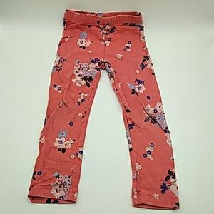 Old Navy toddler girls leggings pink floral 4T